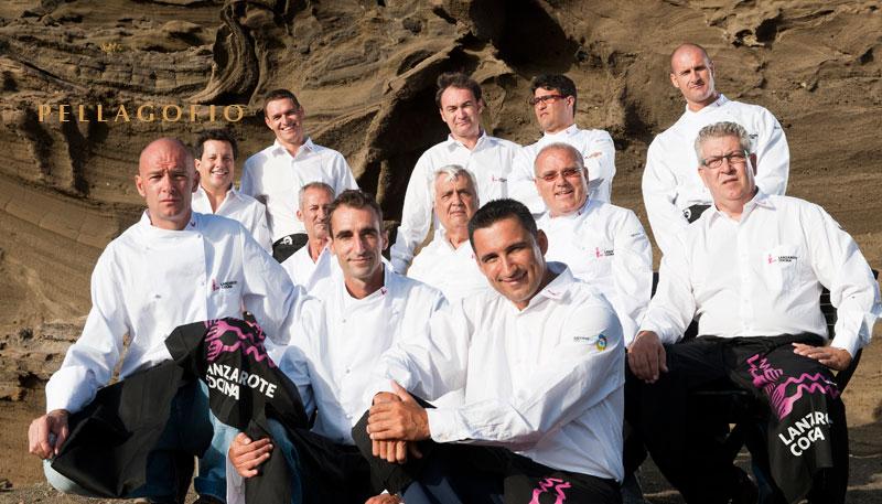 Foto de familia del equipo fundador de Lanzarote Cocina en 2011./ FOTO CABILDO LANZAROTE
