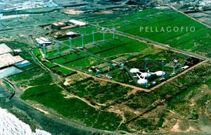 Vista aérea de las salinas de Tenefé y la parcela del ITC en Pozo Izquierdo./ ITC