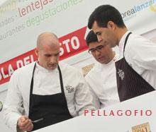 Germán Blanco (izq) durante su participación en la III edición del Festival Enogastronómico de Lanzarote./ FOTO Y. M.