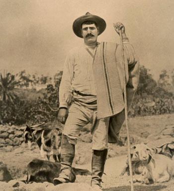 Cabrero con su ganado en Tenerife (1915)./ AFHC-FEDAC