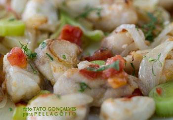 Uno de los platos que han rescatado del recetario de Santiago Eugenio, sus taquitos de cherne.