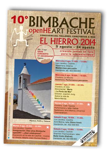 Portada del programa del X Festival Bimbache openArt.