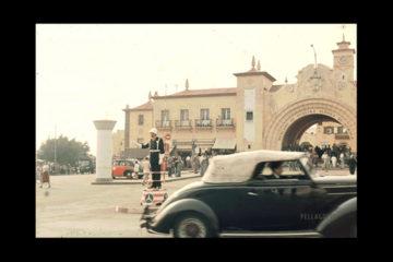 Tráfico frente al Mercado de Nuestra Señora de África, en la Santa Cruz de Tenerife  de 1959. | KORTH (ARCHIVO PELLAGOFIO)
