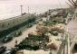Camiones cargados de tomates para la estiba en barcos con destino a Europa, en una imagen tomada en 1958 en el puerto de Santa Cruz de Tenerife. | FOTO KORTH (ARCHIVO PELLAGOFIO)