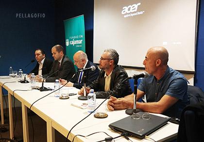 Antonio Cacereño, Sergio Pérez, Antonio Morales, Yuri Millares e Isidoro Jiménez (de izquierda a derecha).   FOTO TATO GONÇALVES