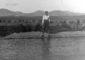 Matías López Morales en 1927 junto a un estanque de agua de la finca El Charco, en Gran Tarajal. |  FOTO ARCHIVO PELLAGOFIO